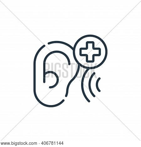 hearing exam icon isolated on white background from medical services collection. hearing exam icon t