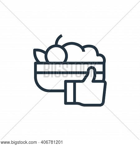healthy food icon isolated on white background from stay at home collection. healthy food icon thin