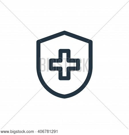 health insurance icon isolated on white background from health collection. health insurance icon thi