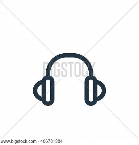 headset icon isolated on white background from music collection. headset icon thin line outline line