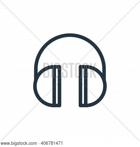 headphones icon isolated on white background from technology collection. headphones icon thin line o