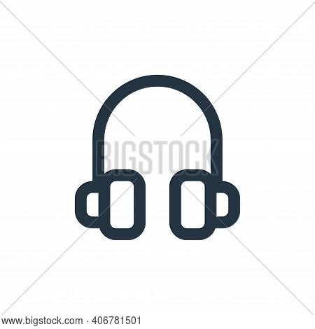 headphone icon isolated on white background from user interface collection. headphone icon thin line