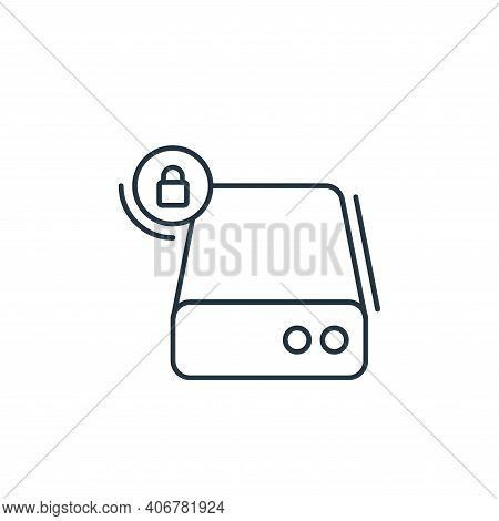 hard disk icon isolated on white background from network and database collection. hard disk icon thi