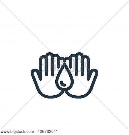 hand washing icon isolated on white background from coronavirus collection. hand washing icon thin l