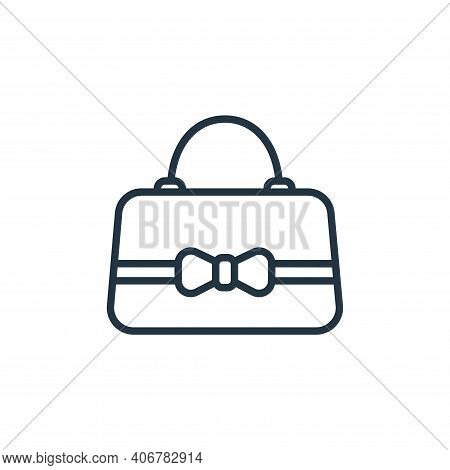 handbag icon isolated on white background from wardrobe collection. handbag icon thin line outline l