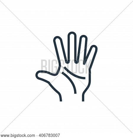 hand icon isolated on white background from wash hands collection. hand icon thin line outline linea