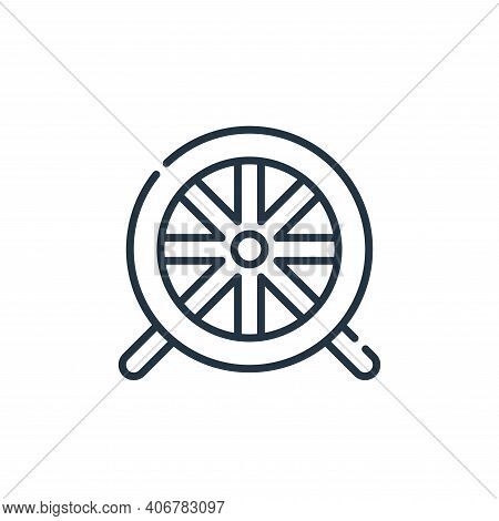 hamster wheel icon isolated on white background from pets collection. hamster wheel icon thin line o