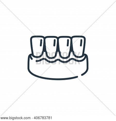 gums icon isolated on white background from dental care collection. gums icon thin line outline line