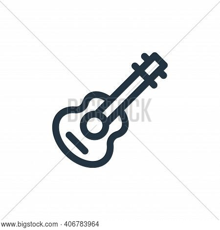 guitar icon isolated on white background from mexico collection. guitar icon thin line outline linea