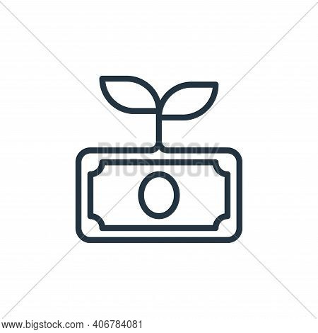 growth icon isolated on white background from money collection. growth icon thin line outline linear