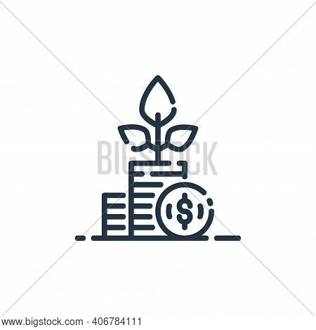 growing icon isolated on white background from startup collection. growing icon thin line outline li