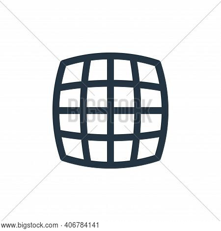 grid icon isolated on white background from virtual reality collection. grid icon thin line outline
