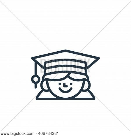graduation icon isolated on white background from education collection. graduation icon thin line ou