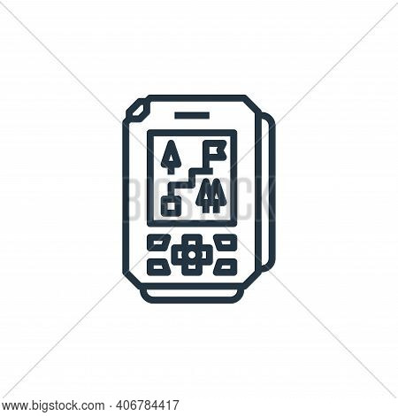 gps icon isolated on white background from camping collection. gps icon thin line outline linear gps