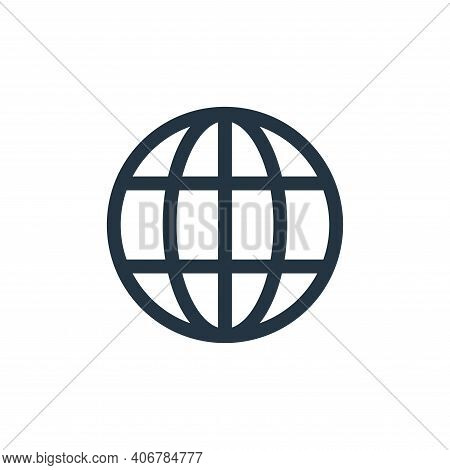 global icon isolated on white background from web essentials collection. global icon thin line outli