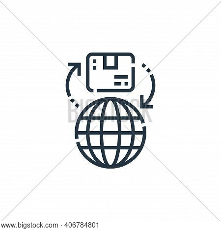 global icon isolated on white background from delivery collection. global icon thin line outline lin