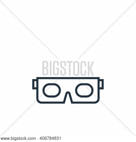 glasses icon isolated on white background from school collection. glasses icon thin line outline lin