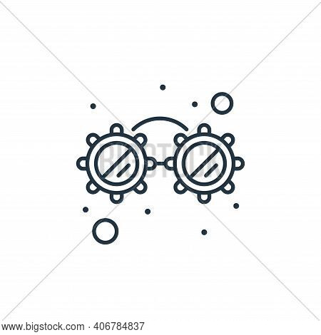 glasses icon isolated on white background from brazilian carnival collection. glasses icon thin line