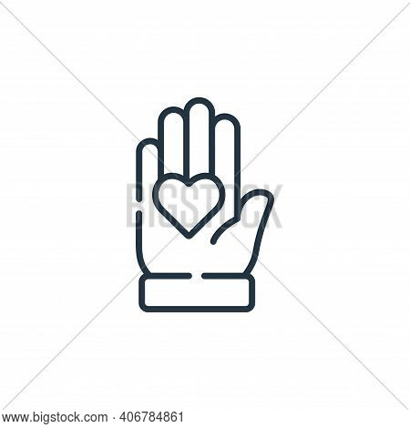 give heart icon isolated on white background from kindness collection. give heart icon thin line out