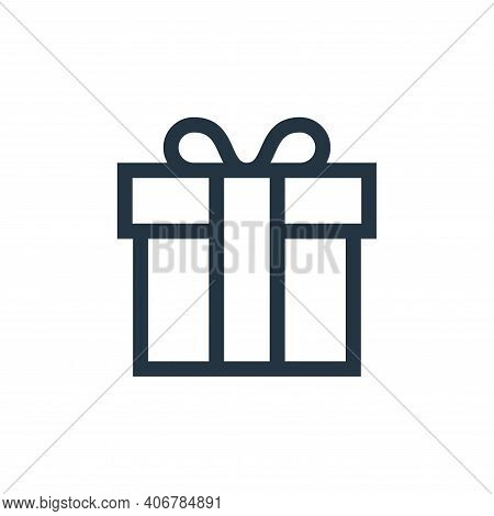 gift box icon isolated on white background from web essentials collection. gift box icon thin line o