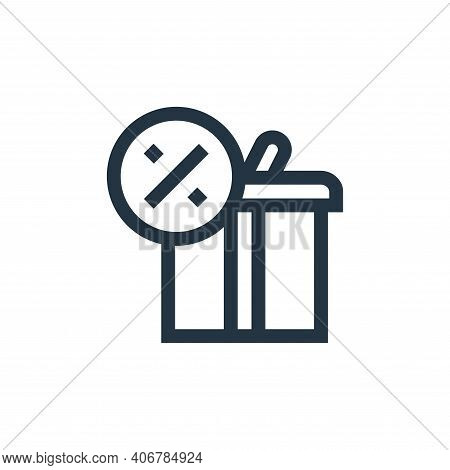 gift icon isolated on white background from advertisement collection. gift icon thin line outline li