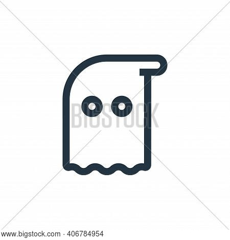 ghost icon isolated on white background from fantastic characters collection. ghost icon thin line o