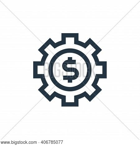 gear icon isolated on white background from marketing and growth collection. gear icon thin line out