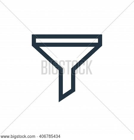 funnel icon isolated on white background from web essentials collection. funnel icon thin line outli