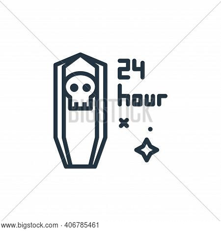 funeral icon isolated on white background from mass disinfection collection. funeral icon thin line