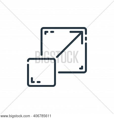 full screen icon isolated on white background from user interface collection. full screen icon thin