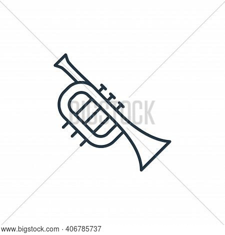 french horn icon isolated on white background from music instruments collection. french horn icon th