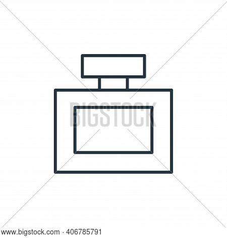 fragrance icon isolated on white background from accessory collection. fragrance icon thin line outl