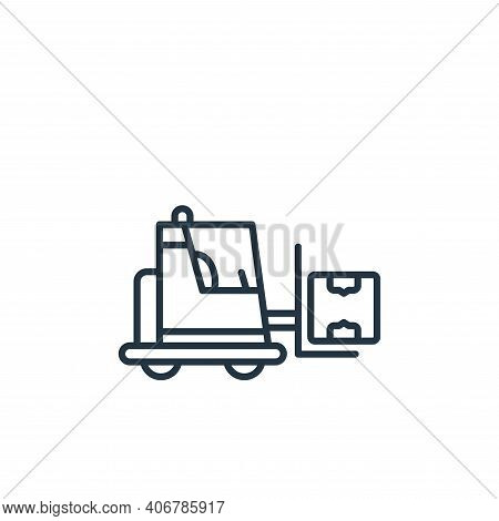 forklift icon isolated on white background from shipping and delivery collection. forklift icon thin