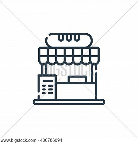 food stall icon isolated on white background from circus collection. food stall icon thin line outli