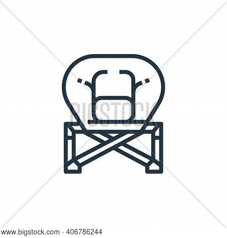 folding icon isolated on white background from camping collection. folding icon thin line outline li