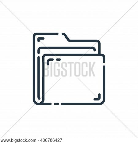 folder icon isolated on white background from startup collection. folder icon thin line outline line