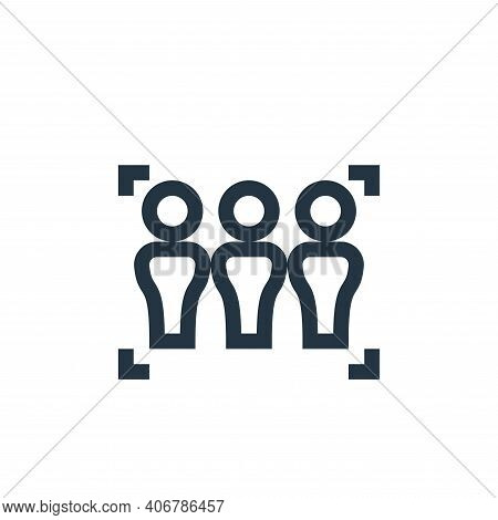 focus icon isolated on white background from management collection. focus icon thin line outline lin