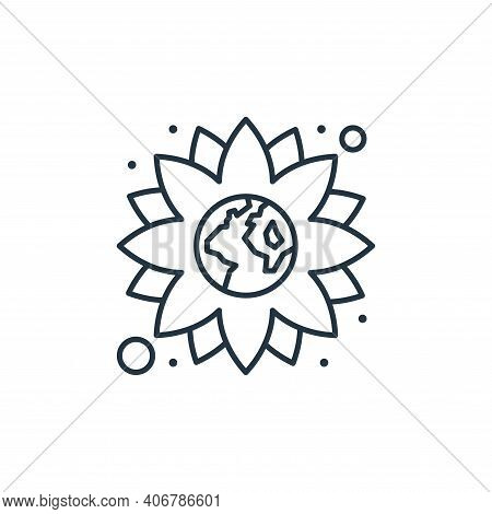 flower icon isolated on white background from earth day collection. flower icon thin line outline li