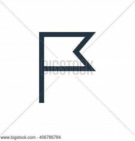 flag icon isolated on white background from email collection. flag icon thin line outline linear fla