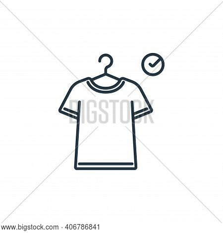 fitting room icon isolated on white background from clothes and outfit collection. fitting room icon