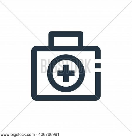 first aid kit icon isolated on white background from medical collection. first aid kit icon thin lin