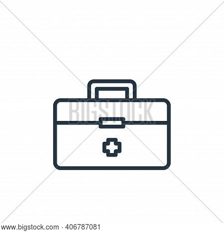 first aid icon isolated on white background from virus collection. first aid icon thin line outline