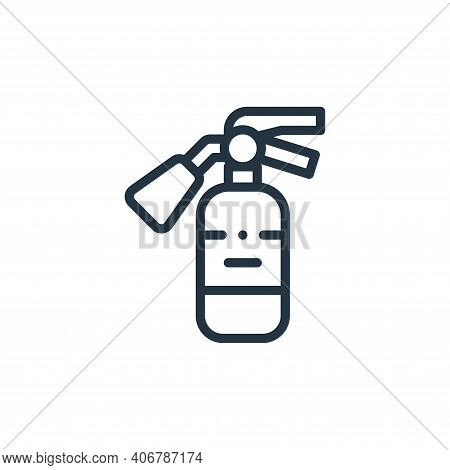 fire extinguisher icon isolated on white background from autoracing collection. fire extinguisher ic