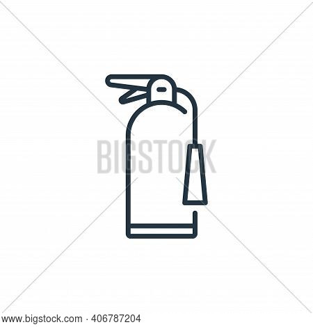 fire extinguisher icon isolated on white background from mall collection. fire extinguisher icon thi
