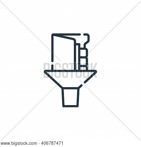 filter icon isolated on white background from database and servers collection. filter icon thin line