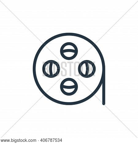 film reel icon isolated on white background from photography collection. film reel icon thin line ou