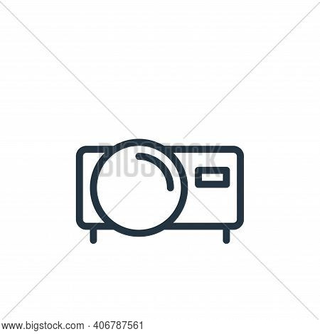 film icon isolated on white background from work office supply collection. film icon thin line outli