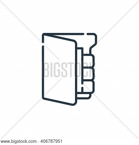 file icon isolated on white background from database and servers collection. file icon thin line out