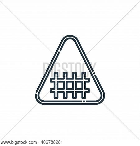 fence icon isolated on white background from signaling collection. fence icon thin line outline line