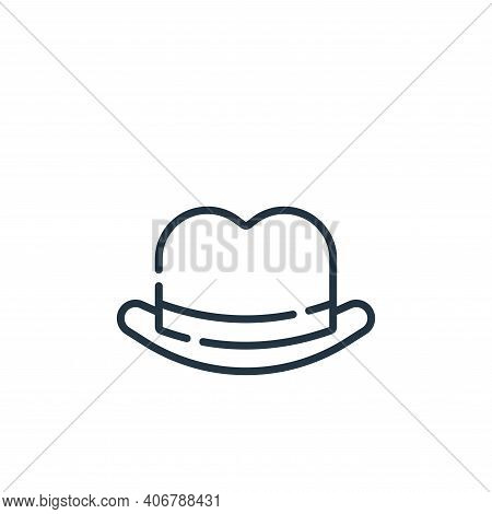 fedora hat icon isolated on white background from england collection. fedora hat icon thin line outl